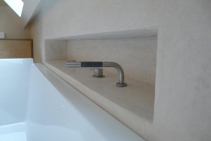 tadelakt badkamer detail